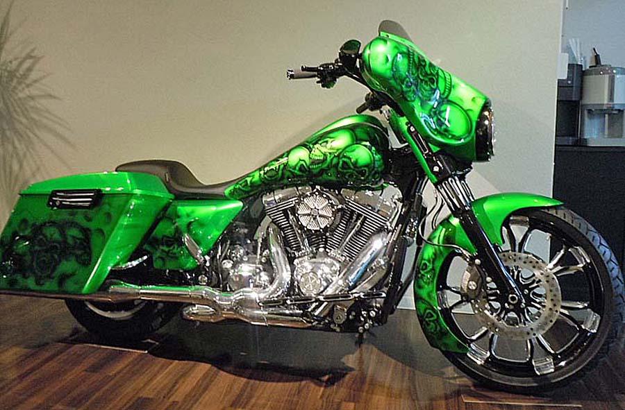 Harley Davidson green